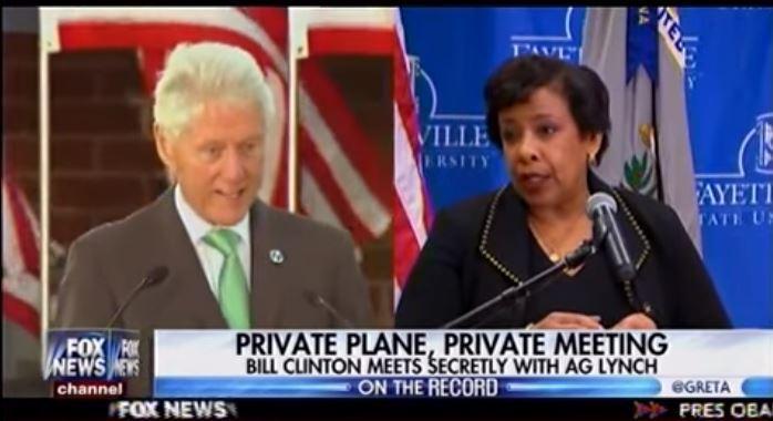 Bill clinton loretta lynch plane